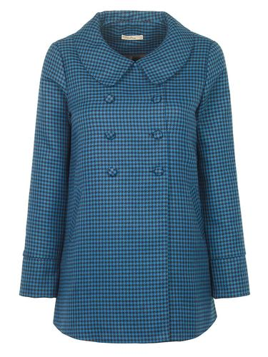 Enid DARLING Retro Mod Houndstooth Check Coat (T)