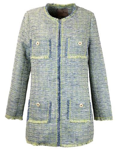 DARLING RETRO 60s WOVEN VINTAGE COAT