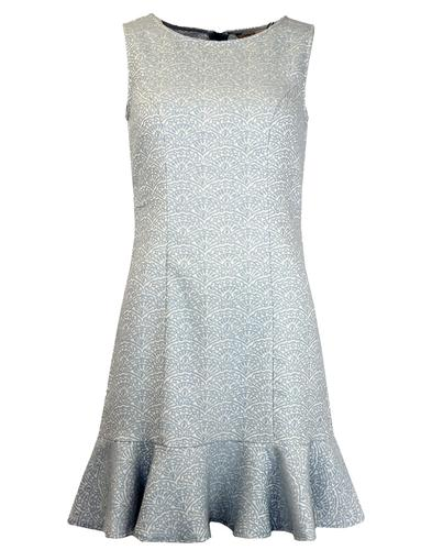 DARLING RETRO MOD FLAPPER DRESS 1920s BLUE