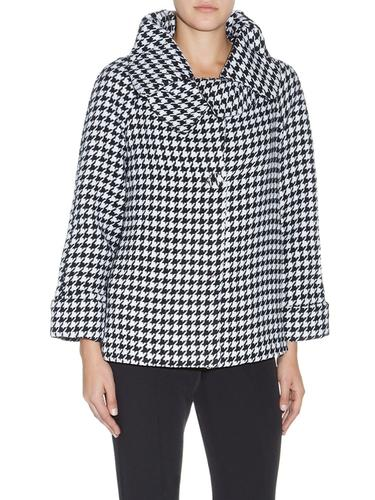 DARLING RETRO 60S HOUNDSTOOTH CAPE JACKET