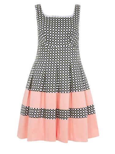 DARLING KELLY RETRO FLARE VINTAGE TEA PROM DRESS