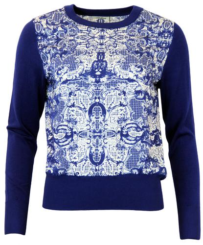 Lily DARLING Vintage 60's Graphic Print Jumper NI