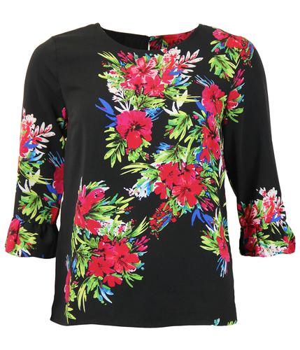 DARLING RETRO FLORAL TOP RAQUEL