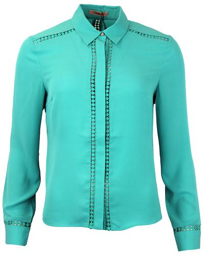 DARLING RETRO MOD AVRIL SHIRT JADE