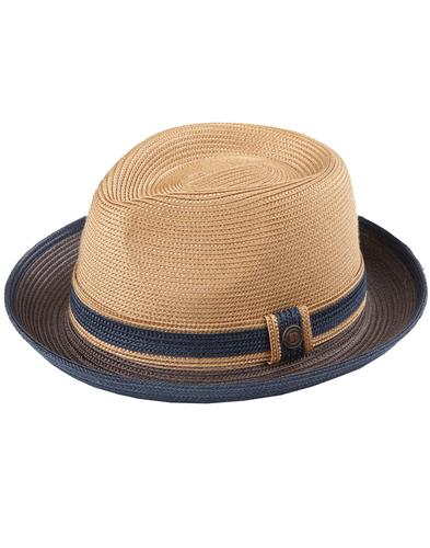 Raynor DASMARCA Men's Retro Teardrop Trilby Maple