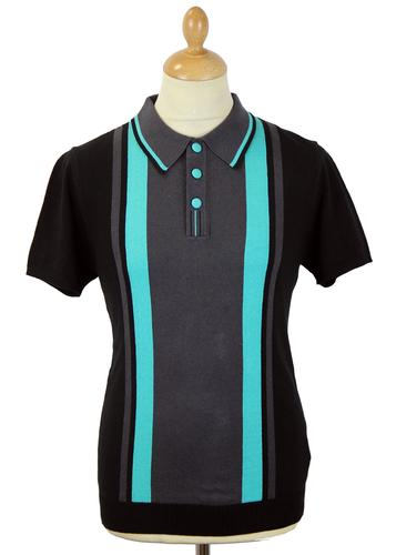DAVID WATTS WOODSBORO RETRO MOD MINT POLO KNIT