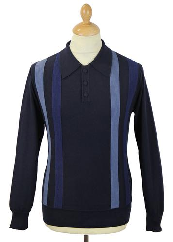 DAVID WATTS WADSWORTH RETRO MOD POLO NAVY