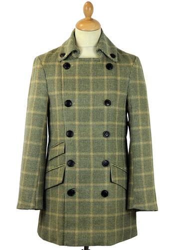 DAVID WATTS PALMER CHECK RETRO MOD OVERCOAT