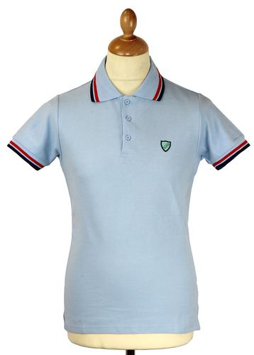 Alto DAVID WATTS Retro Indie Mod Classic Polo Top