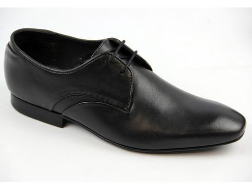 HUDSON DAWLISH RETRO MOD SMART LEATHER SHOES BLACK