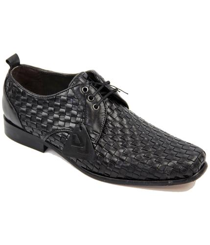 Meadon DELICIOUS JUNCTION Mod Woven Leather Shoes