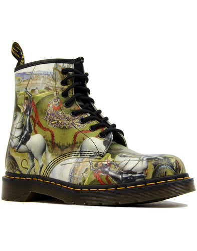 dr martens 1460 saint george and the dragon mens mod boots