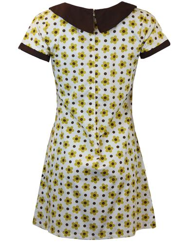 MADCAP ENGLAND DOLLIEROCKER FLORAL POLKA DOT DRESS