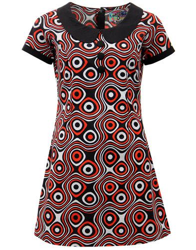 madcap england dollierocker op art retro mod dress