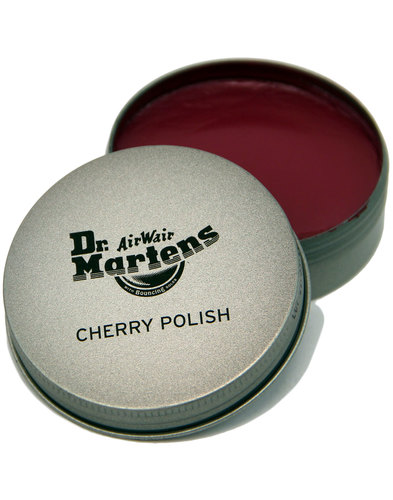 DR MARTENS Cherry Red Boot and Shoe Polish in Tin