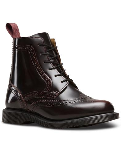 Delphine DR MARTENS Side Zip Brogue Ankle Boots CR