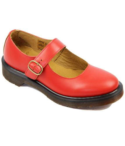 DR MARTENS RETRO MOD 60s MARY JANE SHOES RED