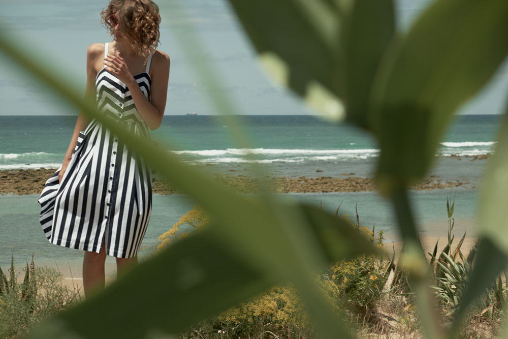 Emily & Fin Layla Retro Striped Sun Dress