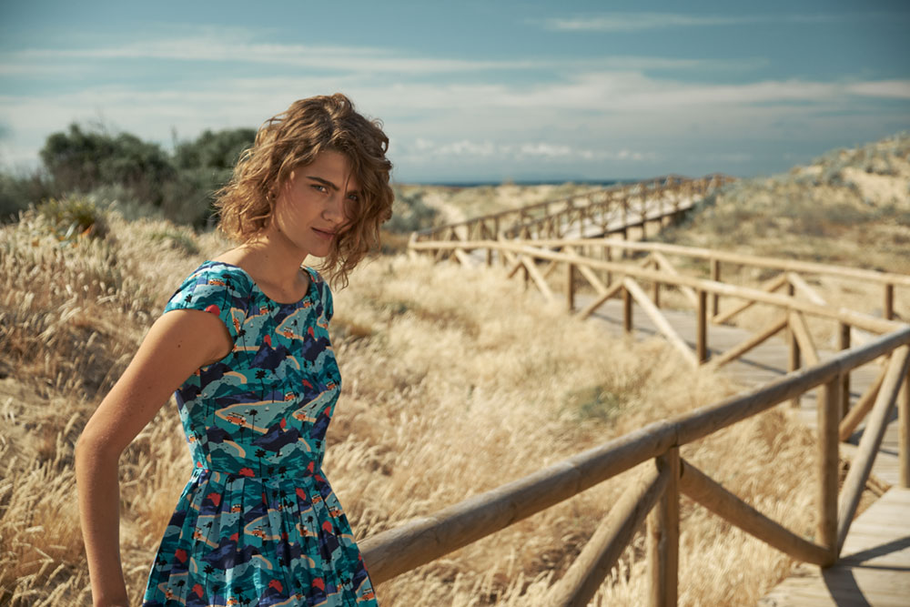 Emily & Fin Claudia Retro Dress in Roadtrippin'