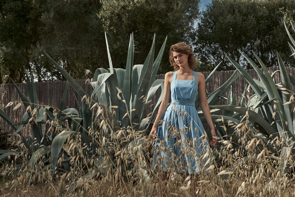 Emily & Fin Romy Crossback Summer Chambray Dress