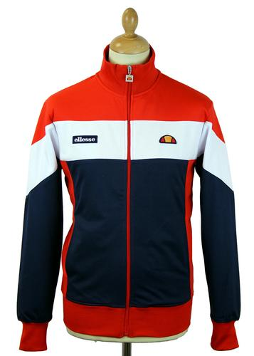 ELLESSE CAPRIONE RETRO 80s INDIE TRACK TOP RED