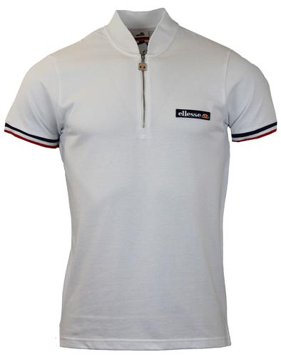 ELLESSE RETRO MOD CYCLING TOP WHITE