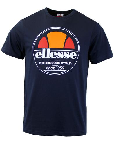 Bergamo Retro Logo ELLESSE T-Shirt In Dress Blue