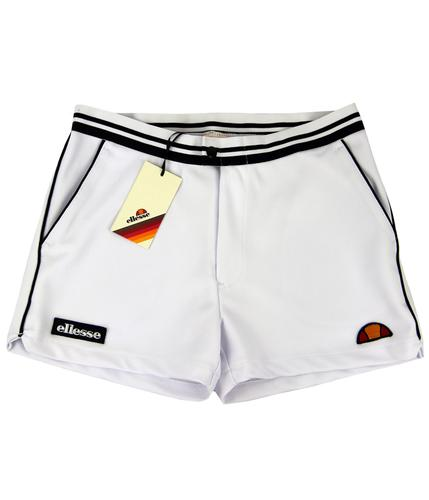 ELLESSE RETRO 50s 70s TENNIS SHORTS WHITE
