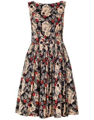 EMILY AND FIN RETRO 50s ABIGAIL DRESS FLORAL