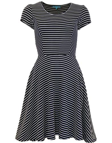 EUCALYPTUS SALLY RETRO MOD STRIPE SKATER DRESS