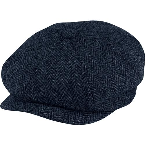 Carloway Harris Tweed FAILSWORTH Gatsby Cap - NAVY