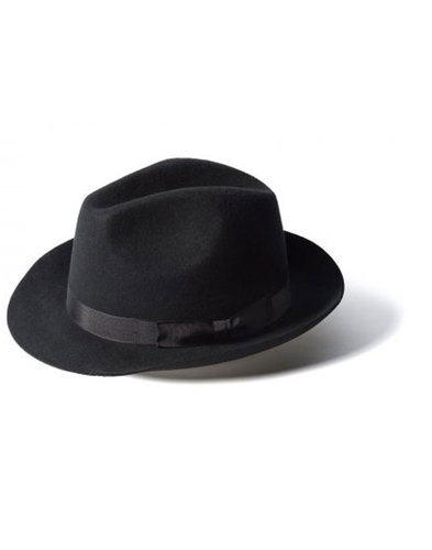 'Doherty' - Indie Trilby Hat (Black)
