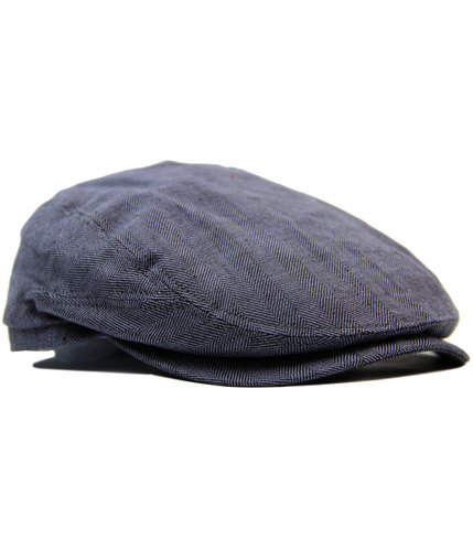 FAILSWORTH Retro Mod Irish Linen Duckbill Flat Cap