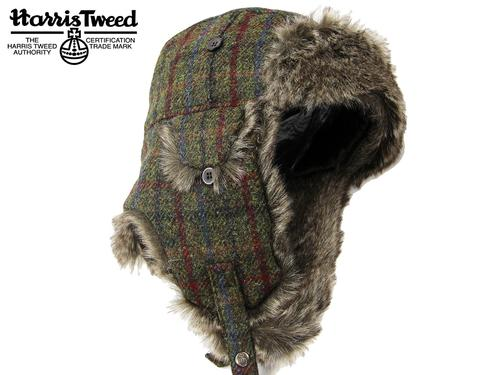 FAILSWORTH RETRO HARRIS TWEED TRAPPER HAT