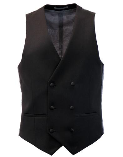 FARAH Retro Double Breasted Dinner Suit Waistcoat