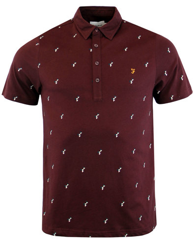 Foliot FARAH Retro Mod Abstract Geo Print Polo (R)