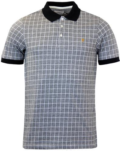 Lowell FARAH Retro Mod 60s Grid Check Marl Polo