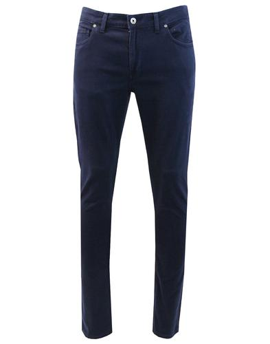 Drake FARAH Mod Slim Stretch Twill Trousers NAVY
