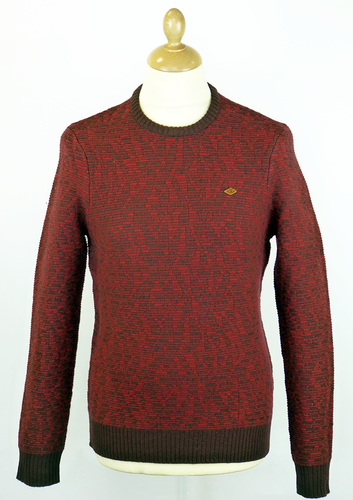 The Deverell FARAH 1920 Retro Texture Knit Jumper