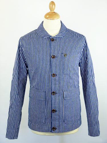 Langley FARAH 1920 Retro Mod Stripe Work Jacket
