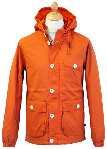 FARAH VINTAGE The Raleigh Jacket | Retro Indie Mod Casual Orange Parka