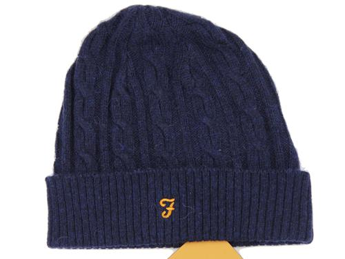 Kirtley FARAH VINTAGE Retro 70s Cable Knit Hat