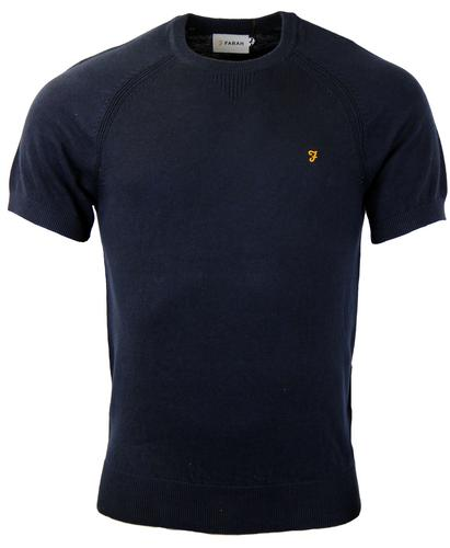 FARAH VINTAGE RETRO MOD 70S KNITTED T-SHIRT