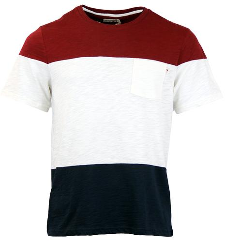 Horton FARAH 1920 Retro Mod Block Panel T-Shirt