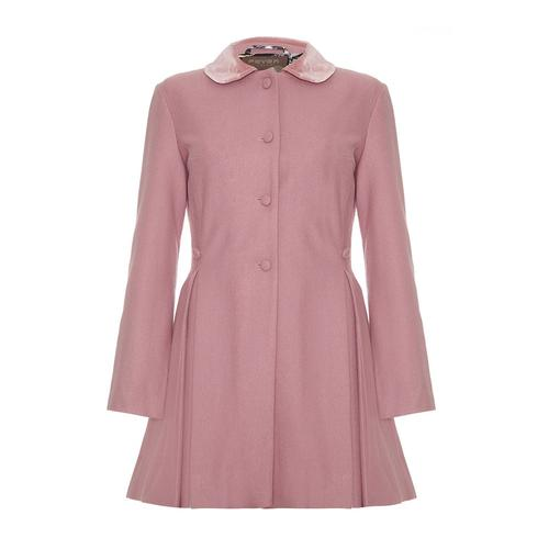 FEVER LONDON RETRO VINTAGE COAT IRIS PINK