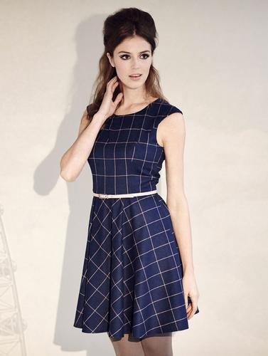 FEVER DRESSES RETRO MOD 60S SKATER DRESS KASPAROV