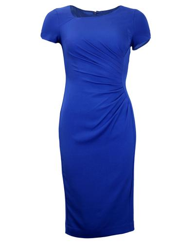 FEVER DRESSES RETRO VINTAGE PENCIL DRESS BLUE
