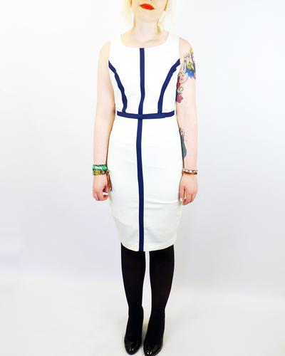 New York FEVER Vintage 60s Stripe Mod Pencil Dress