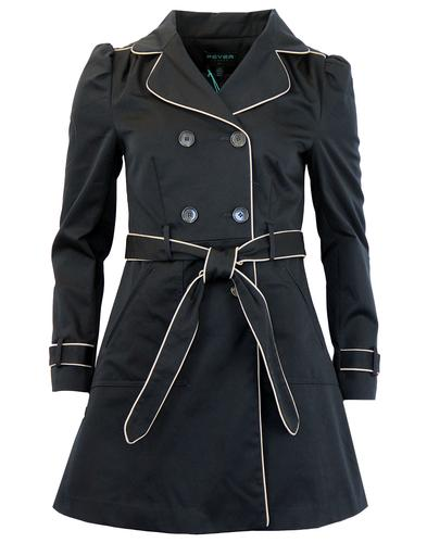 FEVER RETRO MOD 60S TRENCH COAT