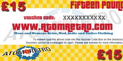 GIFT VOUCHER RETRO GIFTS RETRO PRESENTS MOD GIFTS